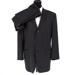 Dolce & Gabbana Striped Black 2 Piece Suit size 54